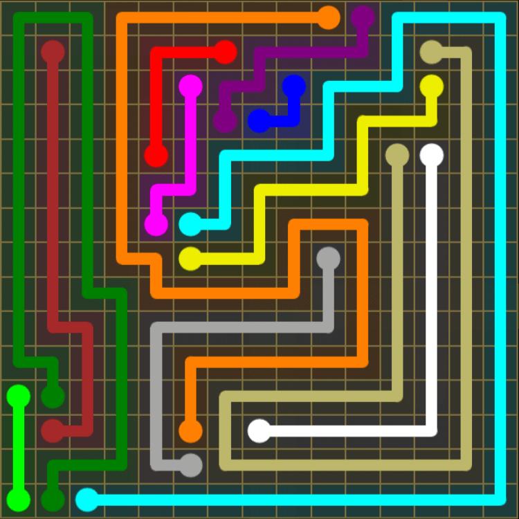 Flow Free – 15×15 Mania – Levels 61-90 – Level 85