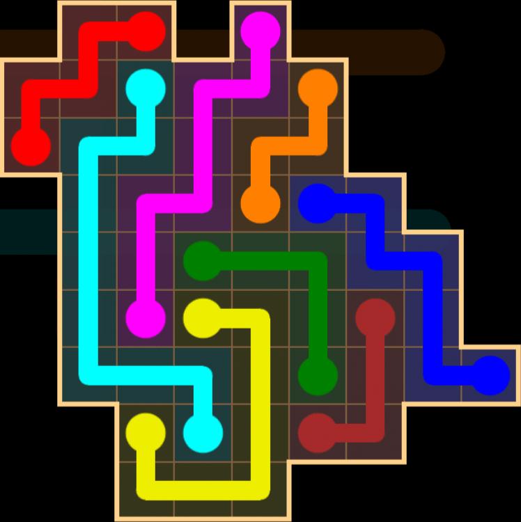 Flow Free – Amoeba Pack – Levels 1-30 – Level 16
