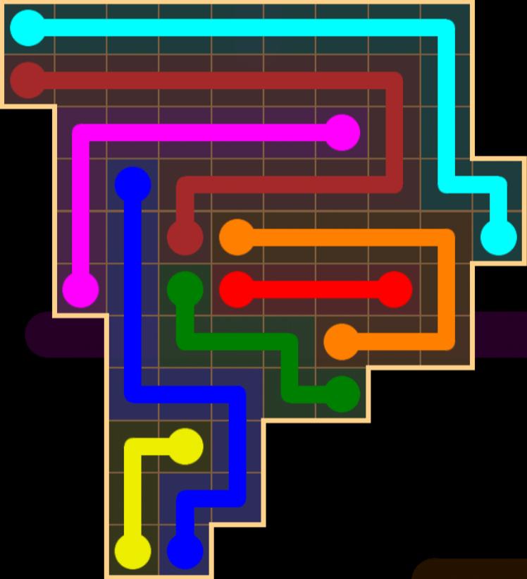 Flow Free – Amoeba Pack – Levels 31-60 – Level 37
