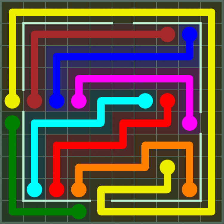 Flow Free – Courtyard Pack – 10×10 – Level 109