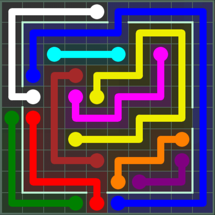 Flow Free – Courtyard Pack – 10×10 – Level 92