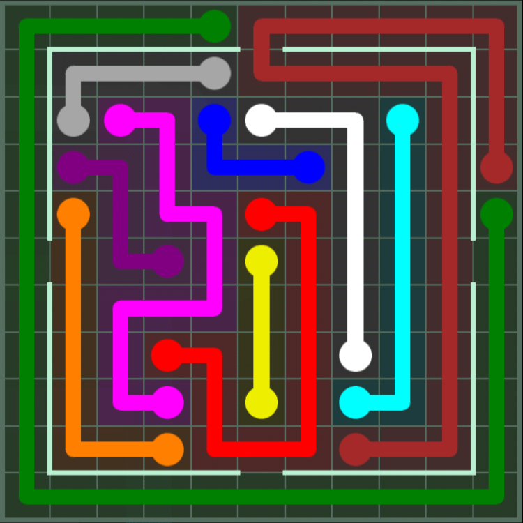 Flow Free – Courtyard Pack – 11×11 Hard – Level 141