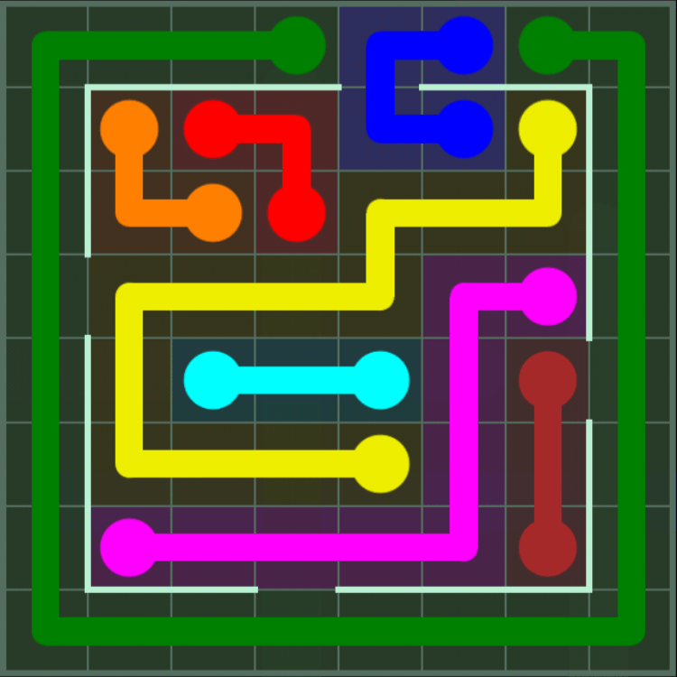 Flow Free – Courtyard Pack – 8×8 – Level 36