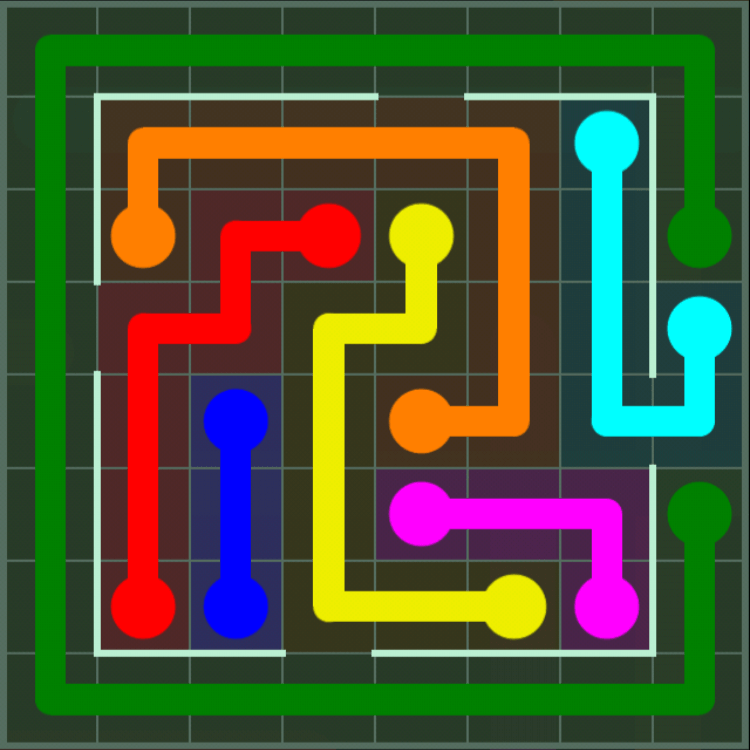 Flow Free – Courtyard Pack – 8×8 – Level 42