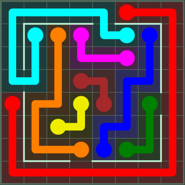 Flow Free – Courtyard Pack – 8×8 – Level 45