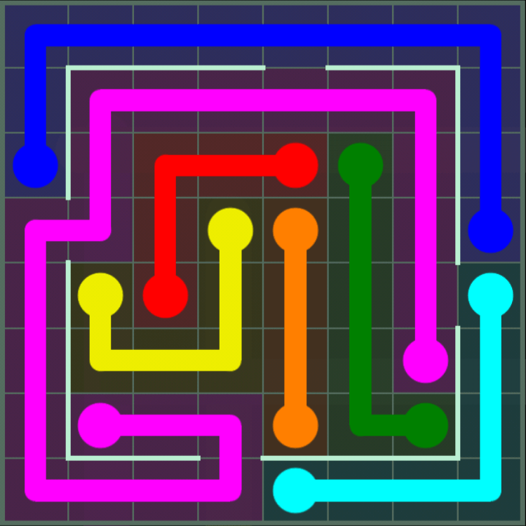 Flow Free – Courtyard Pack – 8×8 – Level 47