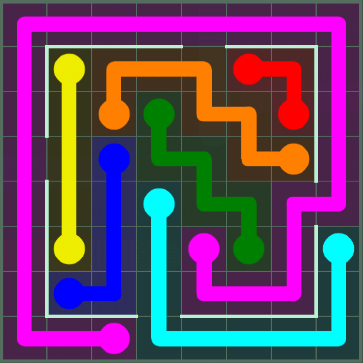 Flow Free – Courtyard Pack – 8×8 – Level 58