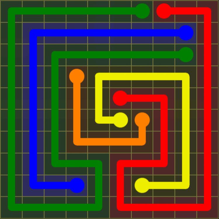 Flow Free – Extreme Pack 2 – 10×10 Harder – Level 11