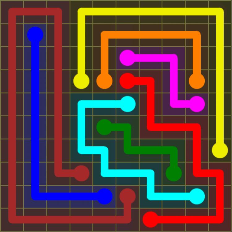 Flow Free – Extreme Pack 2 – 10×10 Harder – Level 25