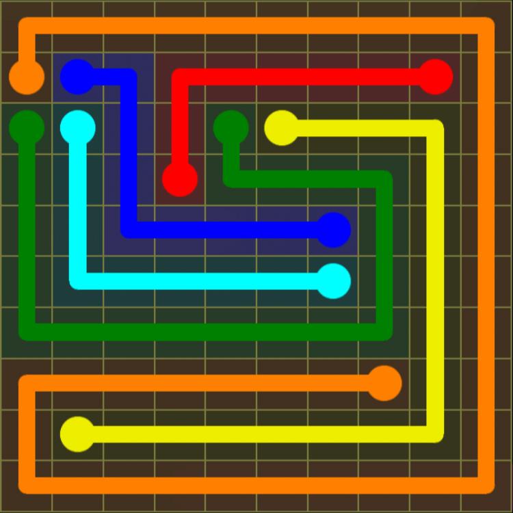 Flow Free – Extreme Pack 2 – 10×10 Harder – Level 27