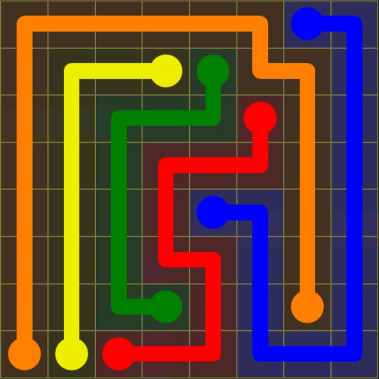 Flow Free – Extreme Pack 2 – 8×8 Hard – Level 11