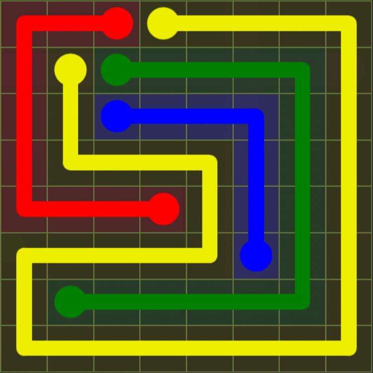 Flow Free – Extreme Pack – 8×8 Hard – Level 18