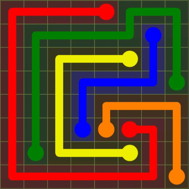 Flow Free – Extreme Pack – 8×8 Hard – Level 25