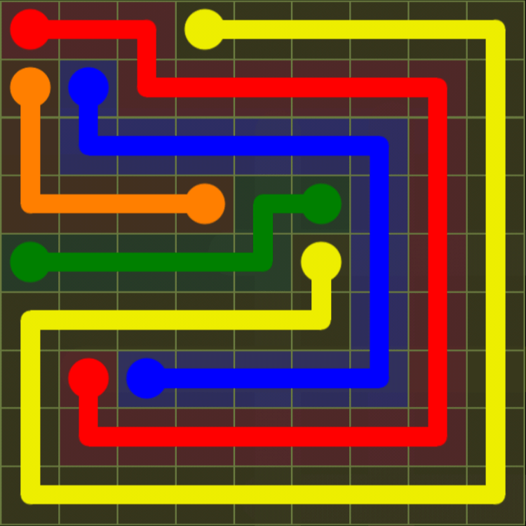 Flow Free – Extreme Pack – 9×9 – Level 9
