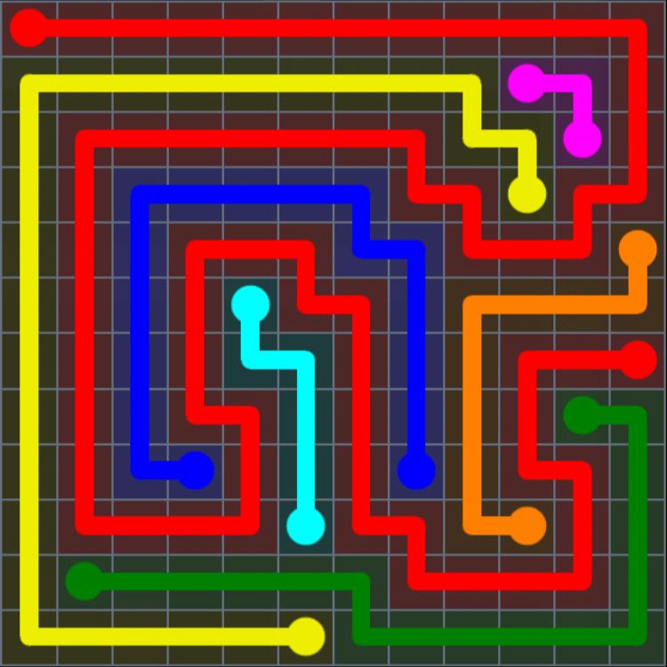 Flow Free – Extreme Rainbow – Levels 1-30 – Level 12