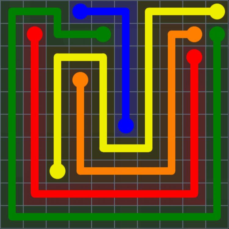 Flow Free – Extreme Rainbow – Levels 121-150 – Level 132