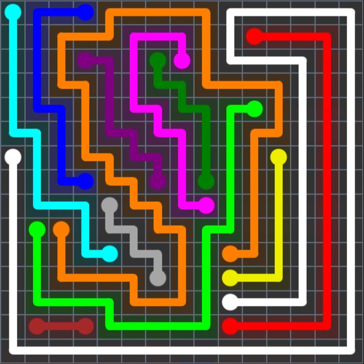 Flow Free – Extreme Rainbow – Levels 121-150 – Level 137