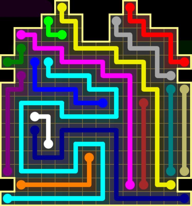 Flow Free – Inkblot Pack – Levels 121-150 – Level 145