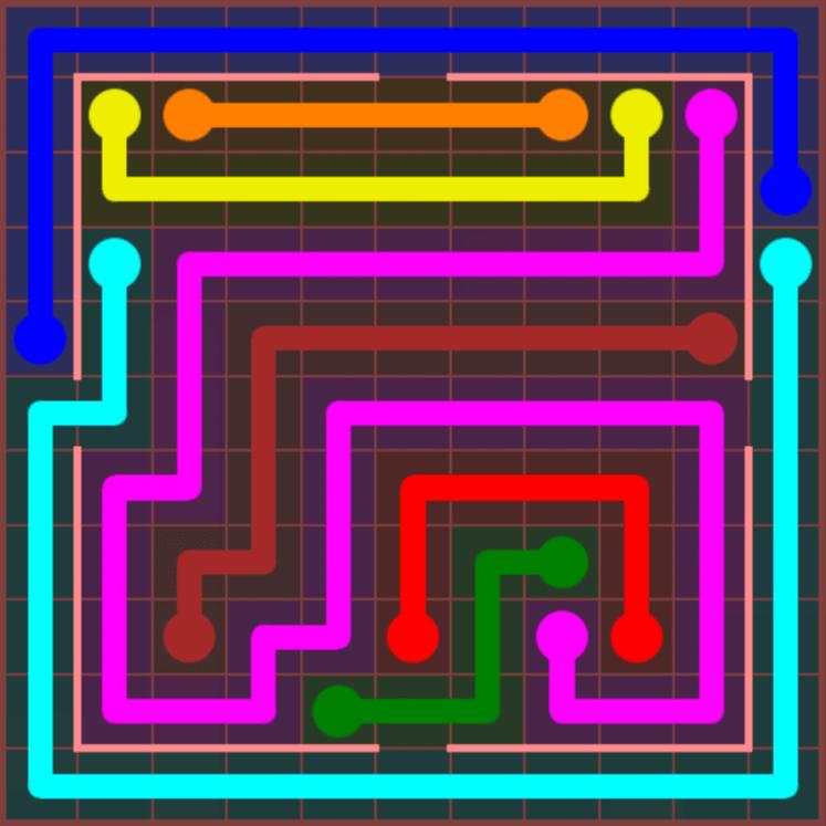 Flow Free – Jumbo Courtyard – 11×11 Hard – Level 10