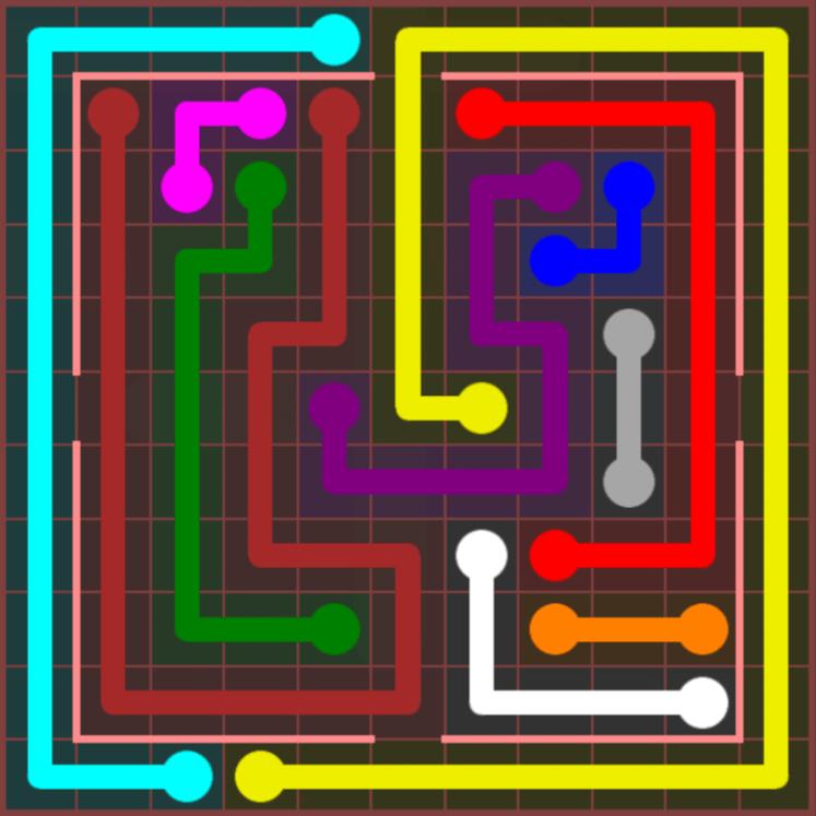 Flow Free – Jumbo Courtyard – 11×11 Hard – Level 11