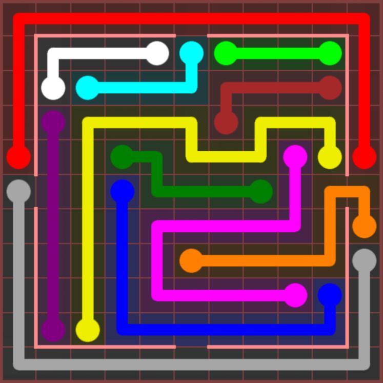 Flow Free – Jumbo Courtyard – 11×11 Hard – Level 13
