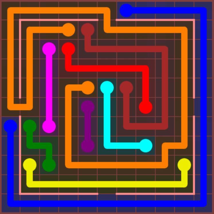 Flow Free – Jumbo Courtyard – 11×11 Hard – Level 20