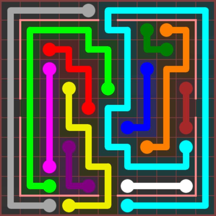 Flow Free – Jumbo Courtyard – 11×11 Hard – Level 26