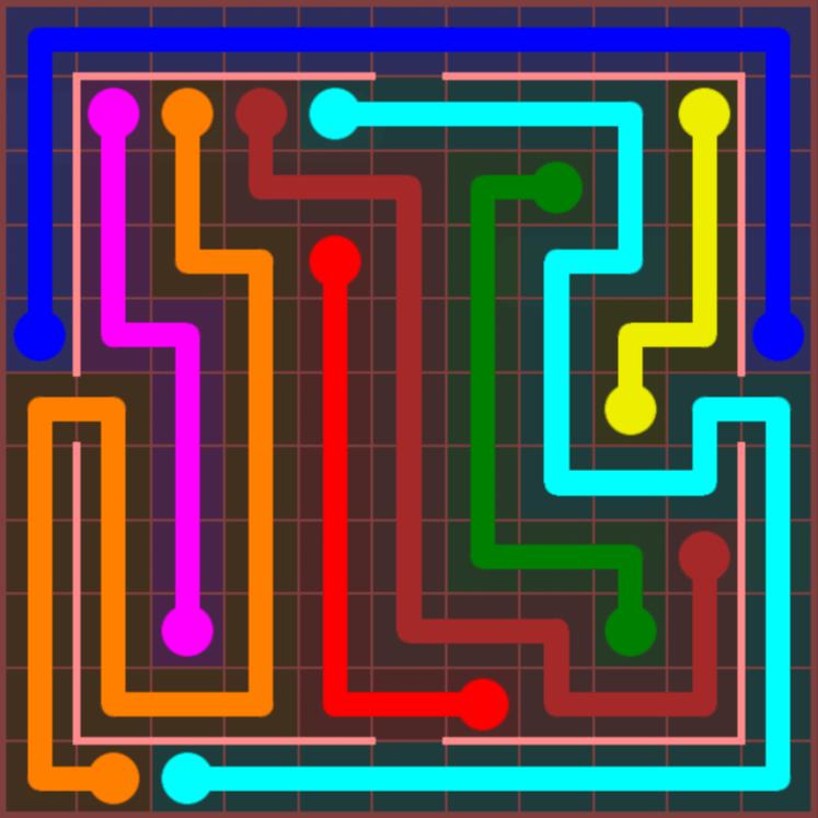 Flow Free – Jumbo Courtyard – 11×11 Hard – Level 28