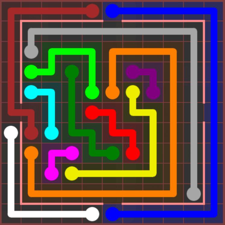 Flow Free – Jumbo Courtyard – 11×11 Hard – Level 29
