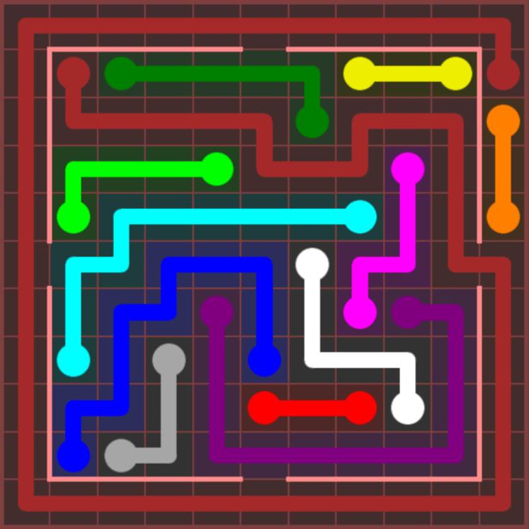 Flow Free – Jumbo Courtyard – 11×11 Hard – Level 4