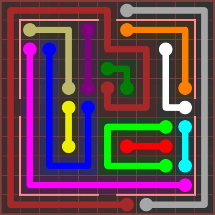 Flow Free – Jumbo Courtyard – 11×11 Hard – Level 8