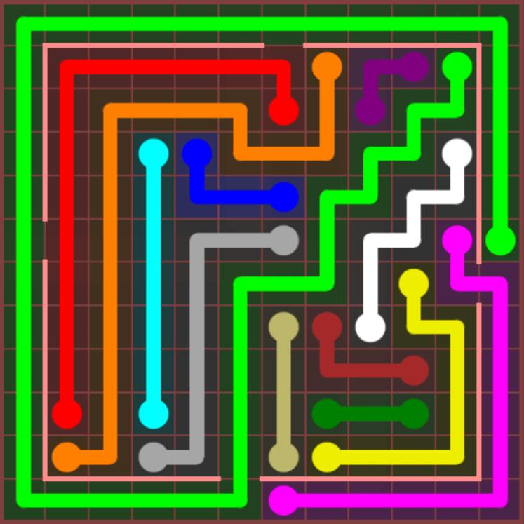 Flow Free – Jumbo Courtyard – 12×12 – Level 48