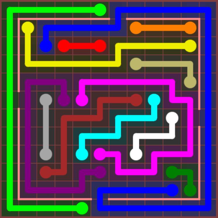 Flow Free – Jumbo Courtyard – 12×12 – Level 58