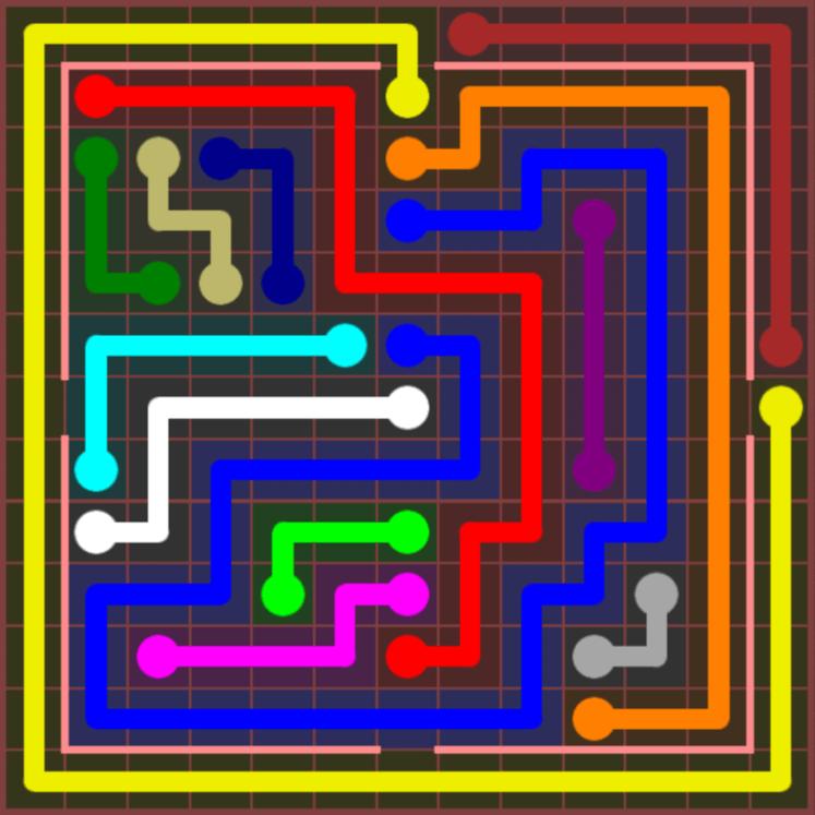 Flow Free – Jumbo Courtyard – 13×13 Harder – Level 67