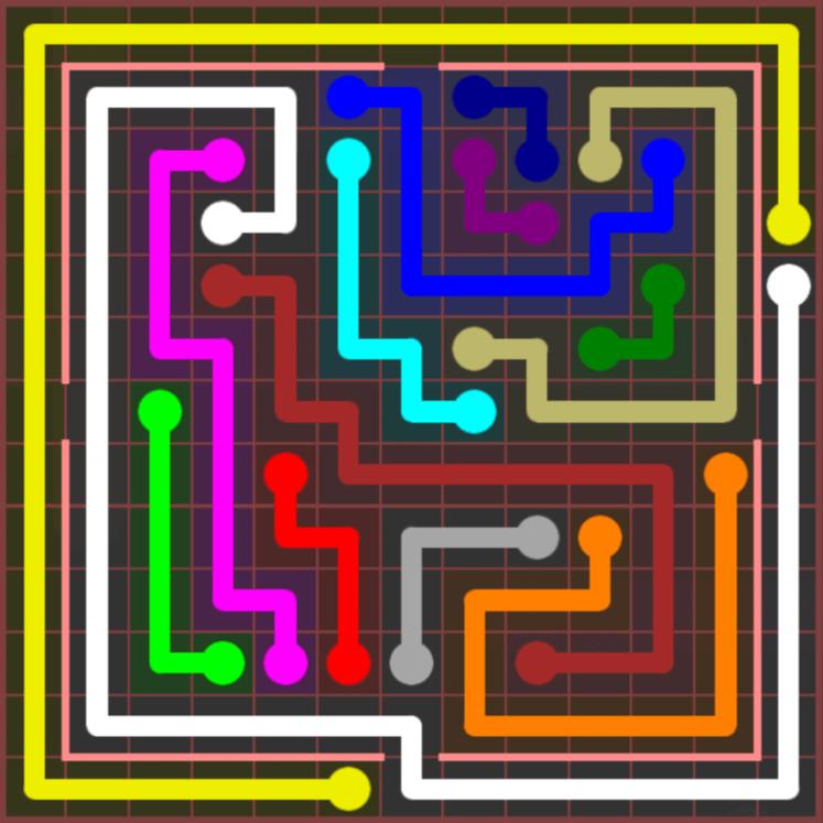 Flow Free – Jumbo Courtyard – 13×13 Harder – Level 77