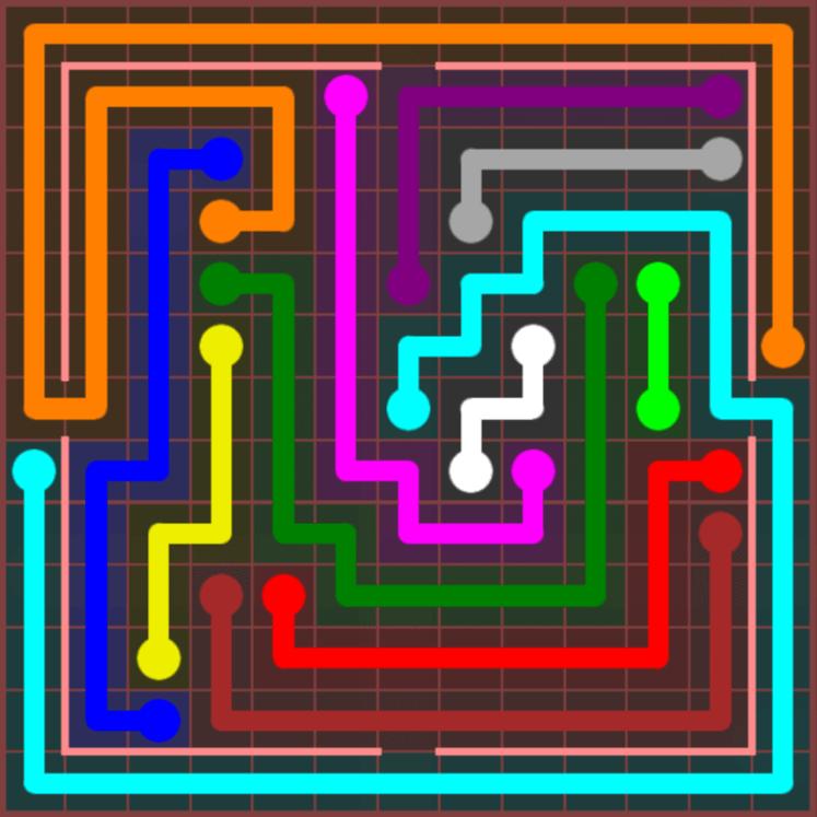 Flow Free – Jumbo Courtyard – 13×13 Harder – Level 82