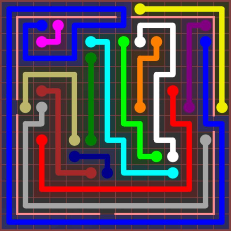 Flow Free – Jumbo Courtyard – 14×14 – Level 106
