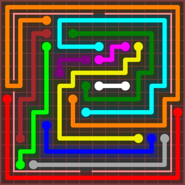 Flow Free – Jumbo Courtyard – 14×14 – Level 108