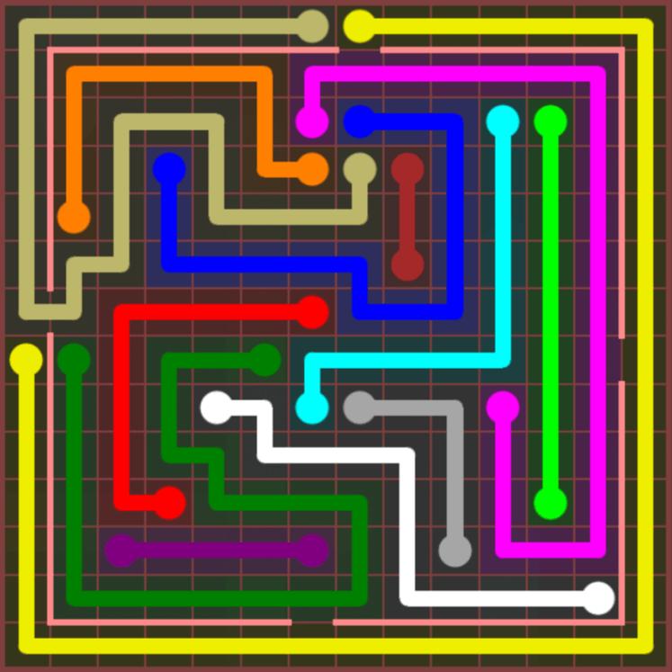 Flow Free – Jumbo Courtyard – 14×14 – Level 110