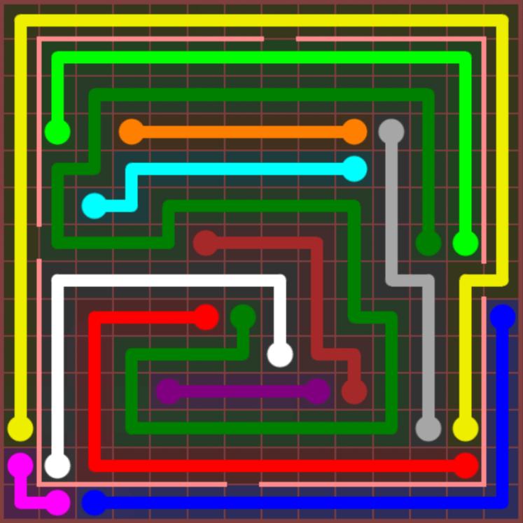 Flow Free – Jumbo Courtyard – 14×14 – Level 112
