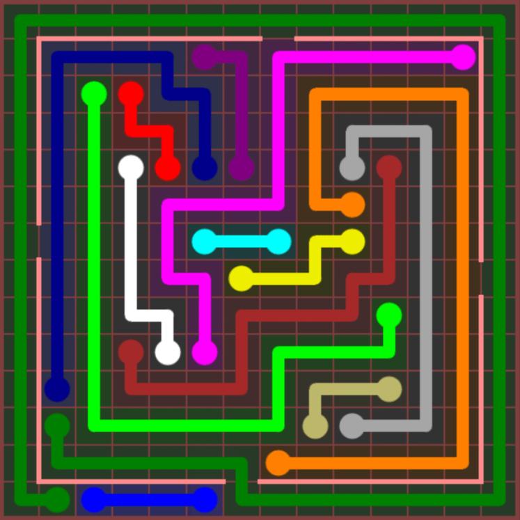 Flow Free – Jumbo Courtyard – 14×14 – Level 96
