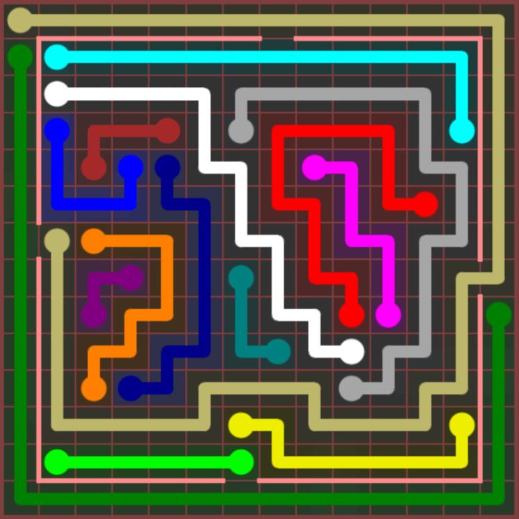 Flow Free – Jumbo Courtyard – 14×14 – Level 97