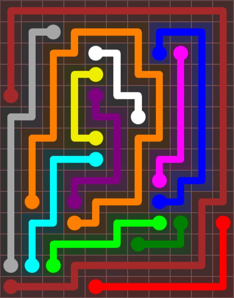 Flow Free – Jumbo Rectangle – 11×14 – Level 13