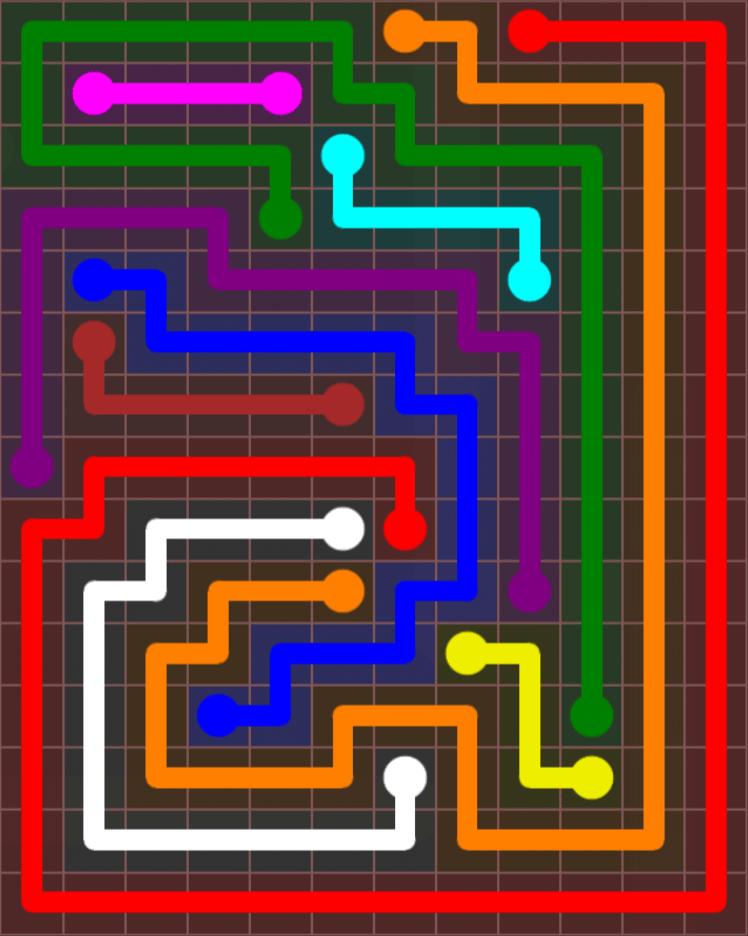 Flow Free – Jumbo Rectangle – 12×15 – Level 37