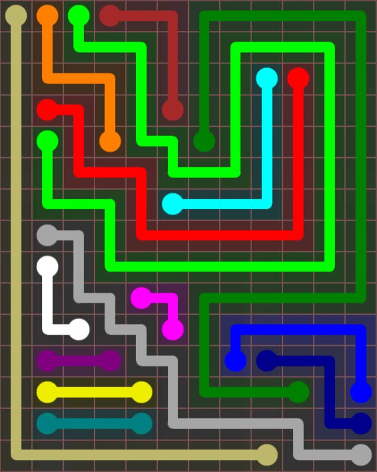 Flow Free – Jumbo Rectangle – 12×15 – Level 41