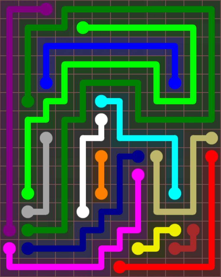 Flow Free – Jumbo Rectangle – 12×15 – Level 45