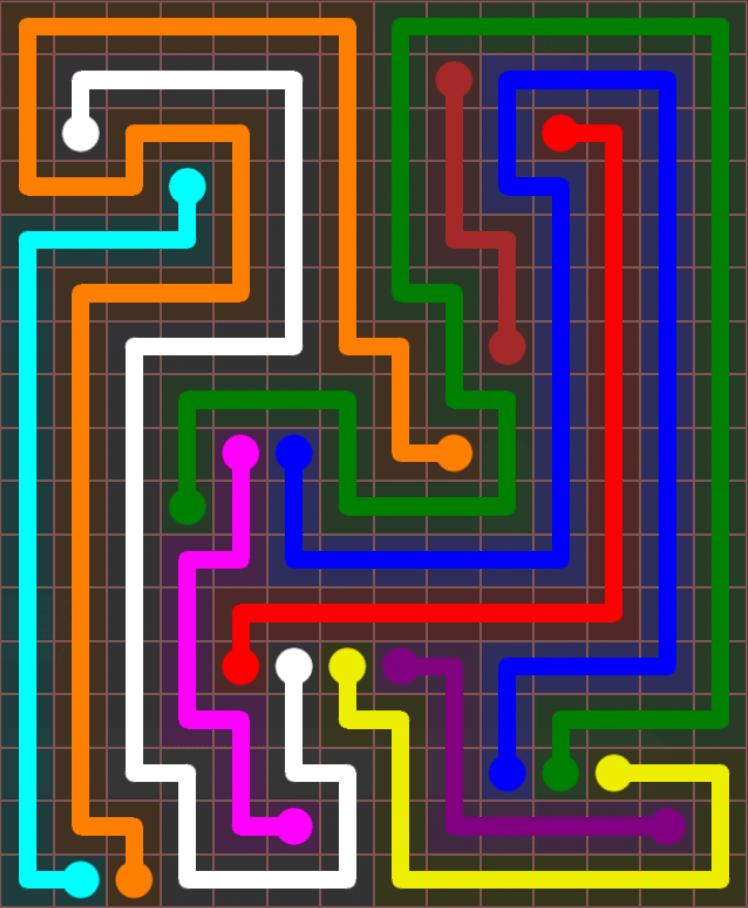 Flow Free – Jumbo Rectangle – 14×17 – Level 106