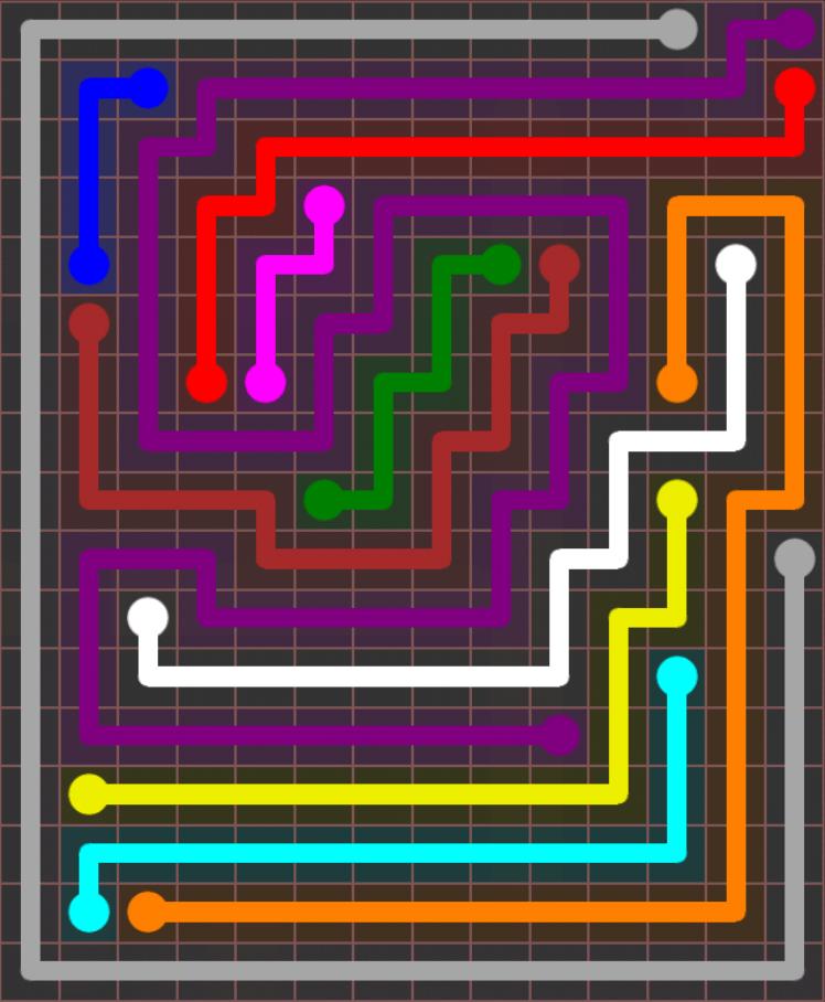 Flow Free – Jumbo Rectangle – 14×17 – Level 91