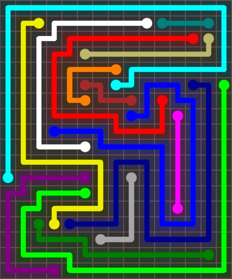 Flow Free – Jumbo Rectangle – 15×18 – Level 124