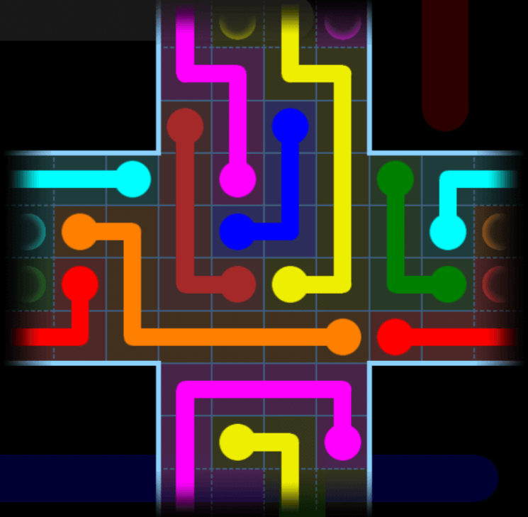 Flow Free – Party Pack – Levels 121-150 – Level 124